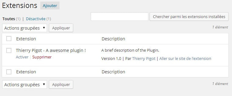 Traduire le header d'un plugin WordPress